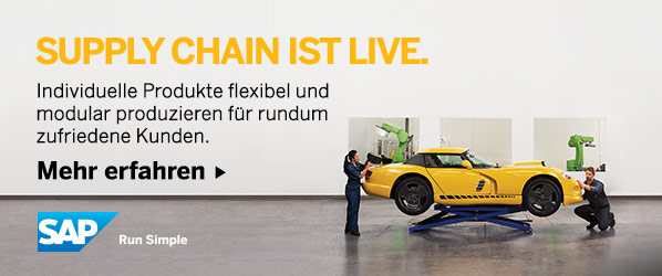 Banner IoT by SAP: Supply Chain ist live