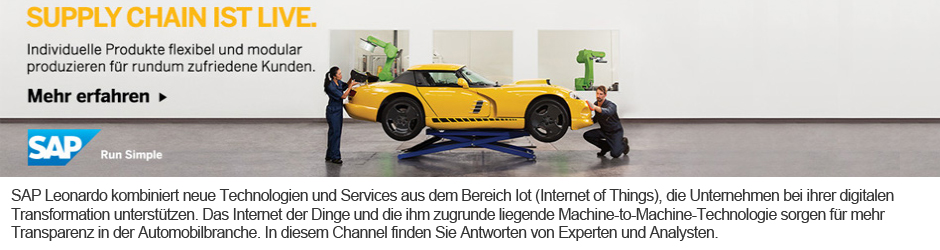 IoT by SAP: Supply Chain ist live