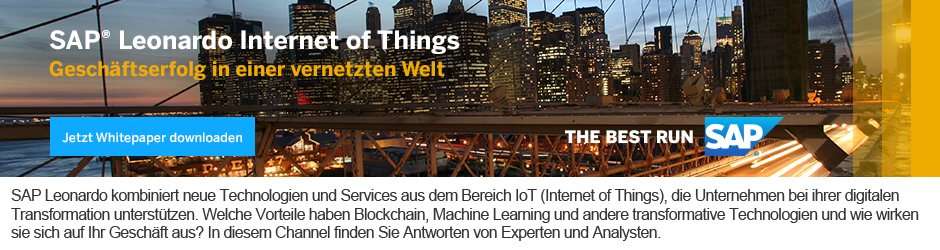 IoT by SAP: SAP Leonardo Internet of Things - Whitepaper