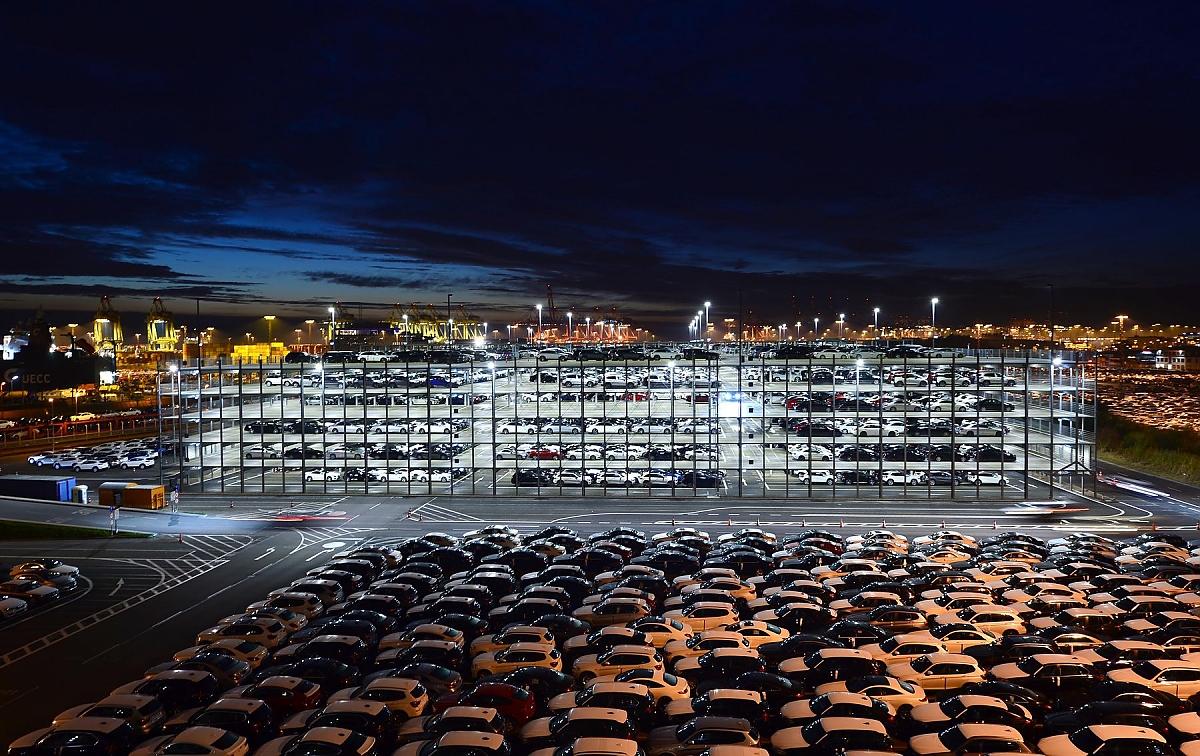 Autoumschlagplatz Bremerhaven Auto Nabel Der Welt