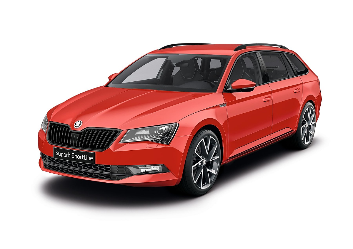 skoda superb sportline bestseller im sportler outfit. Black Bedroom Furniture Sets. Home Design Ideas