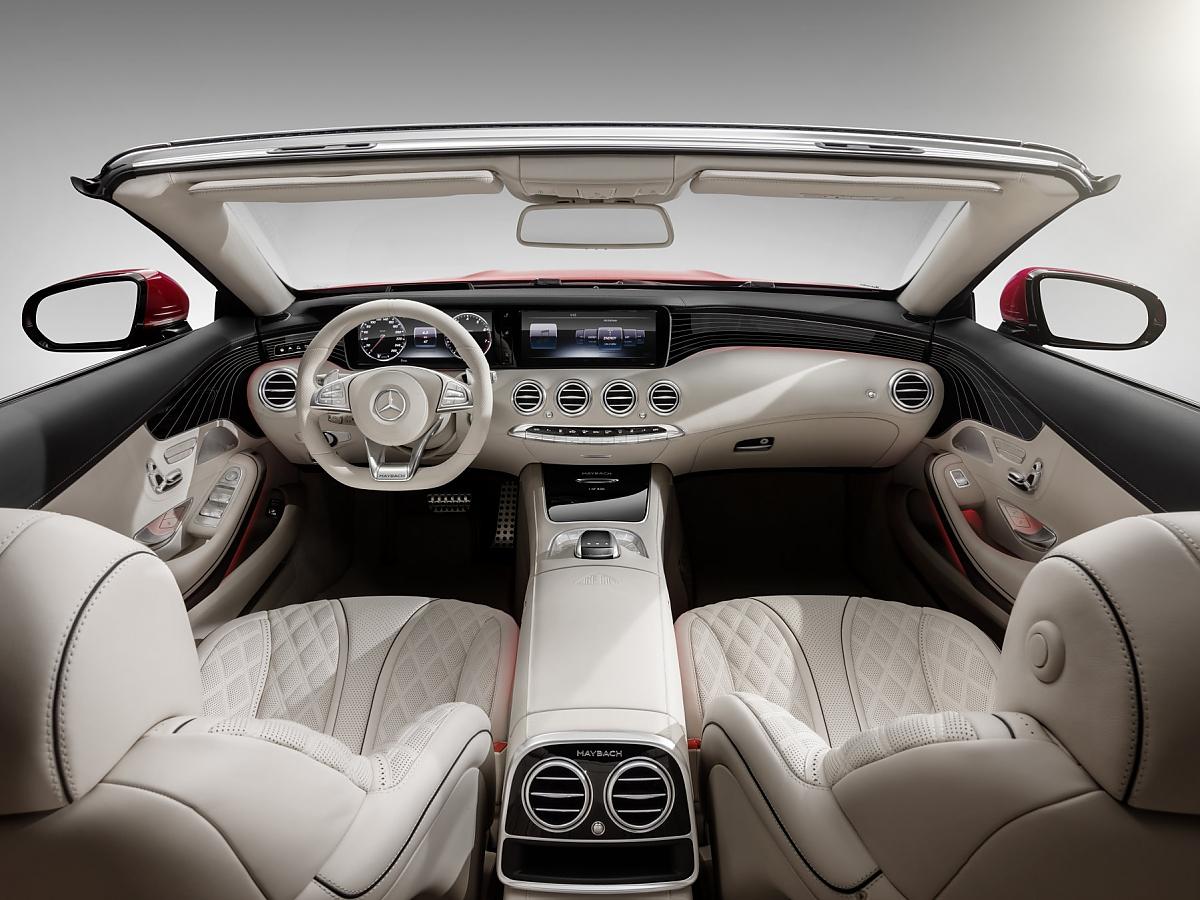 mercedes maybach s 650: s-klasse-cabrio mit taschenset