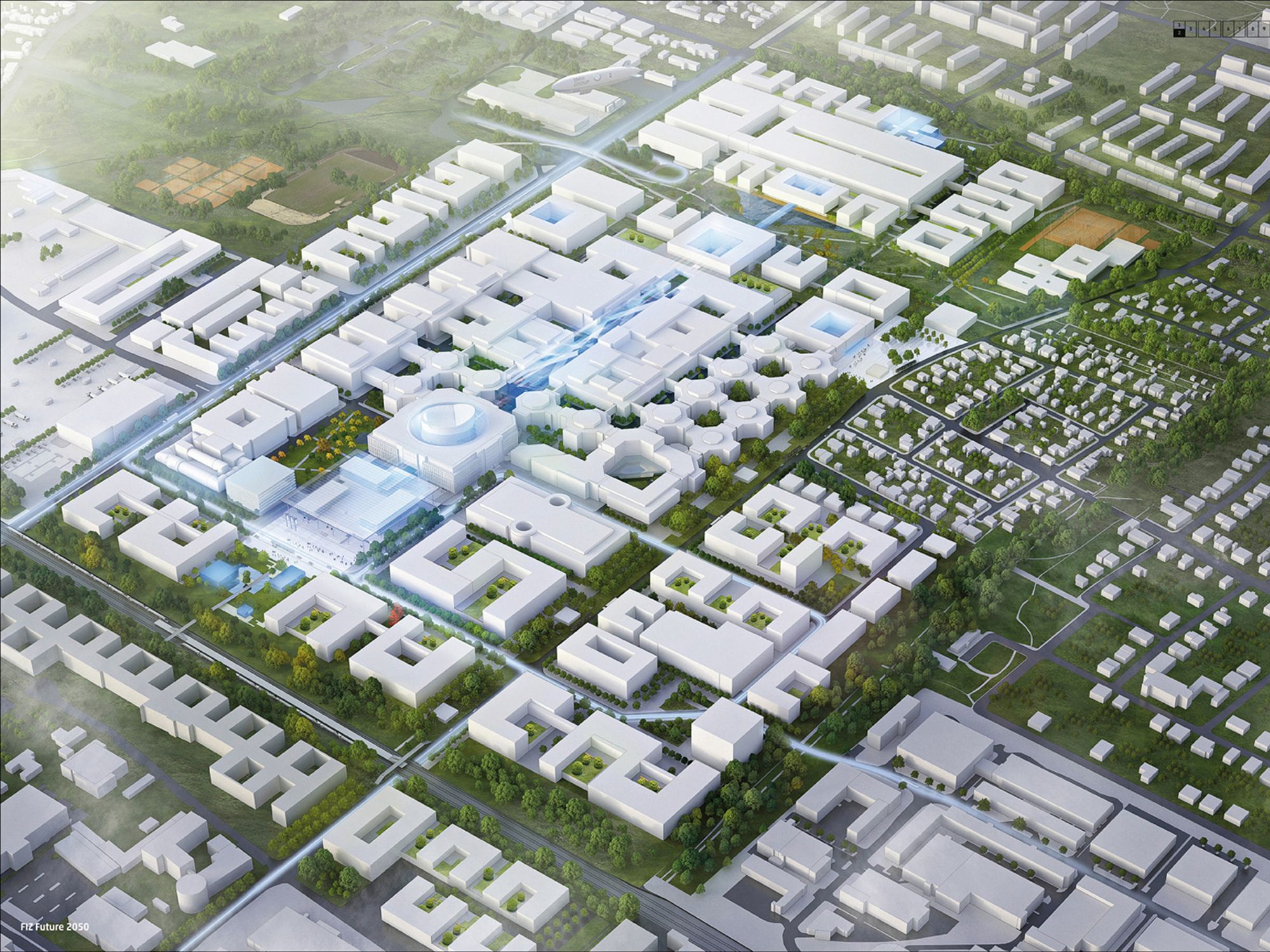 Bis 2019 soll in BMWs FIZ in München ein innovatives Arbeitsumfeld für 5.000 Mitarbeiter entstehen. Bild BMW