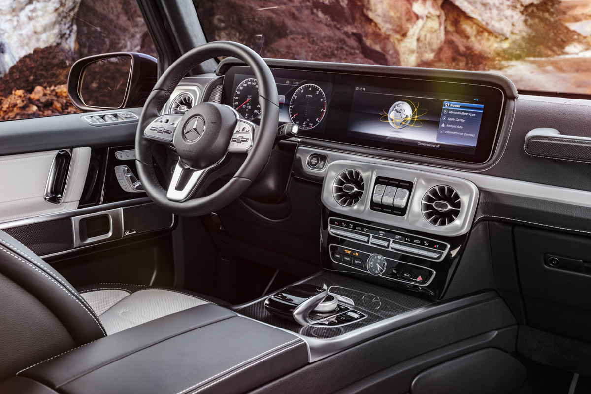 Daimler zeigt interieur details der neuen g klasse