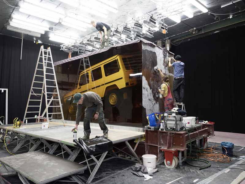 Mercedes G Klasse in Kunstharz- Aufbau