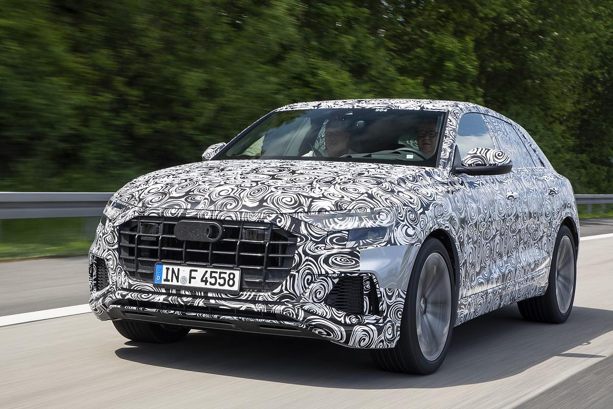 Audi Q8 Prototypenerprobung: Starke Schulter