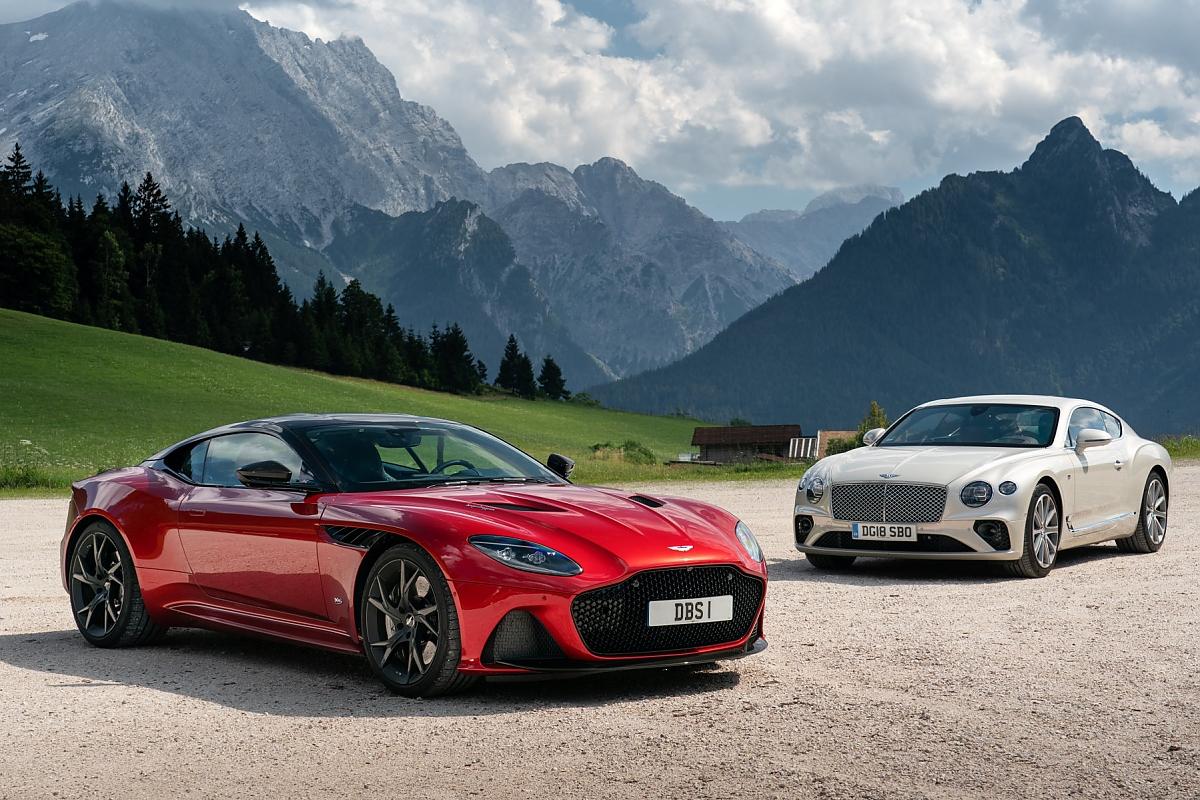 Aston Martin Dbs Bentley Continental Gt Reich Und Schön